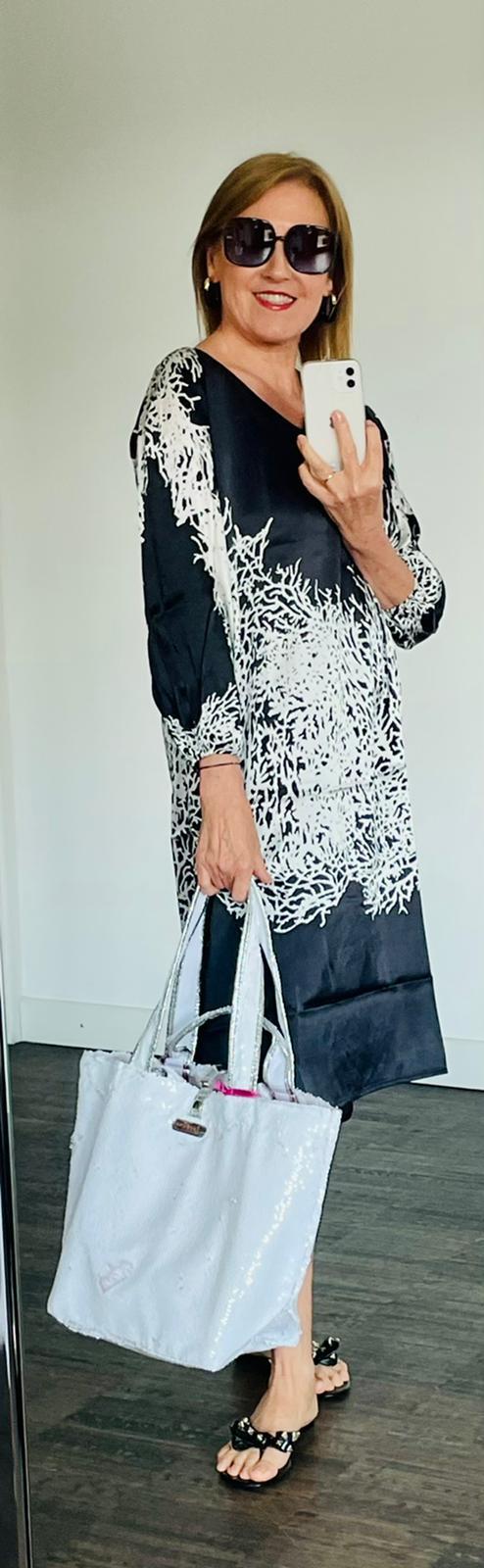 ming&dress coral schwarz/weiss