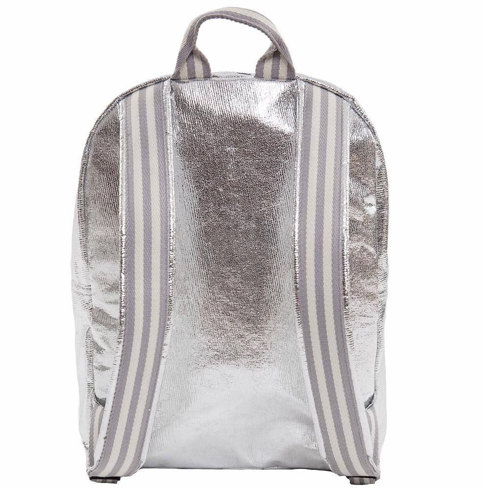 back&pack glitter stripe silber