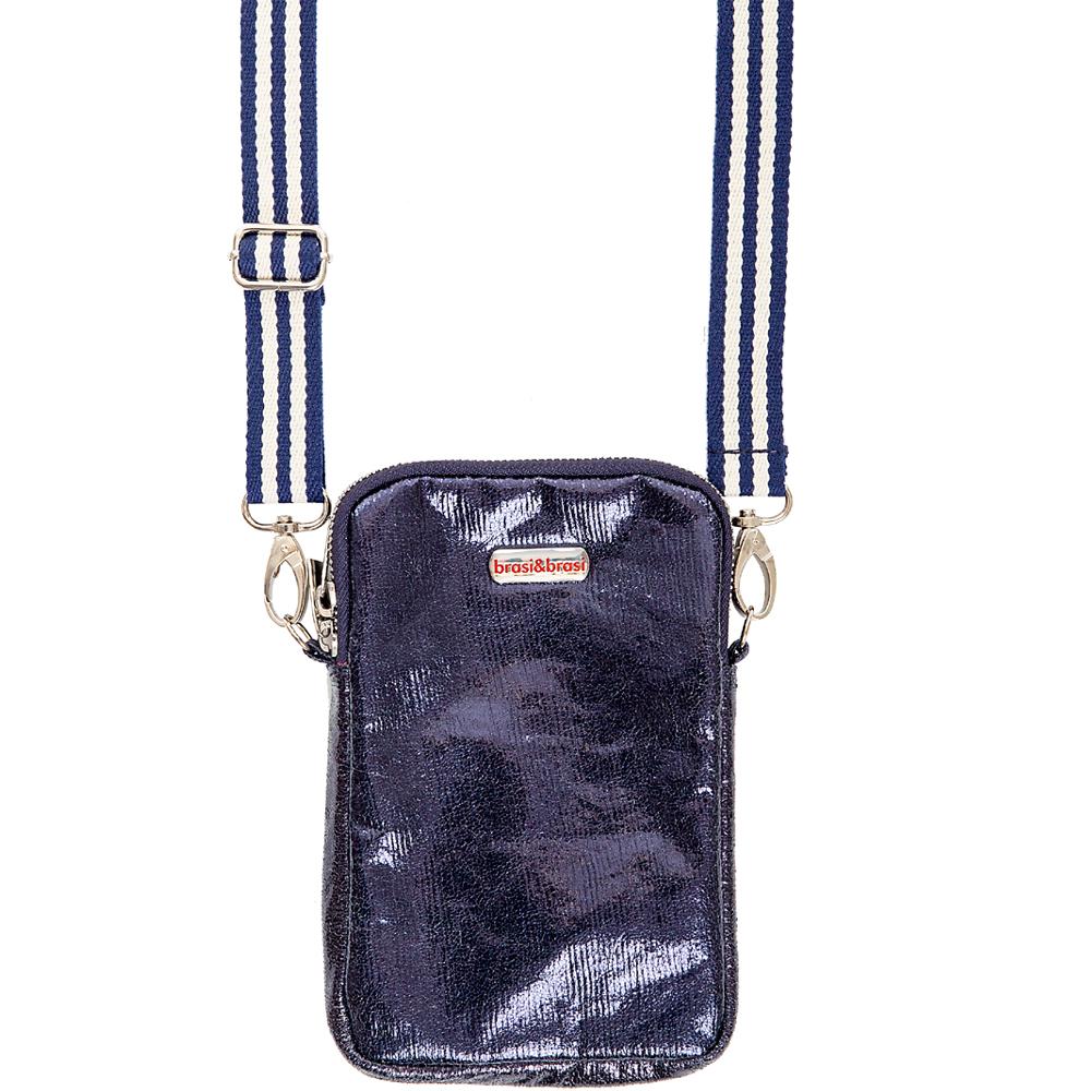 handy&zip stripe glitter  mit Reissverschluss dunkelblau