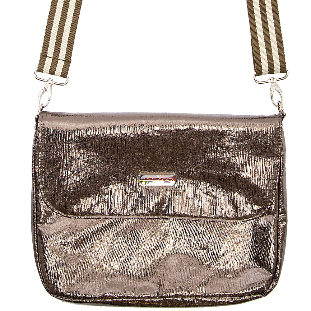 flap&bag stripe glitter olive S