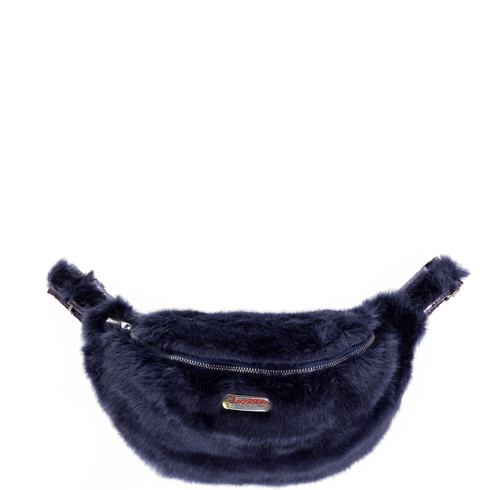 belt&bag fakefur blau