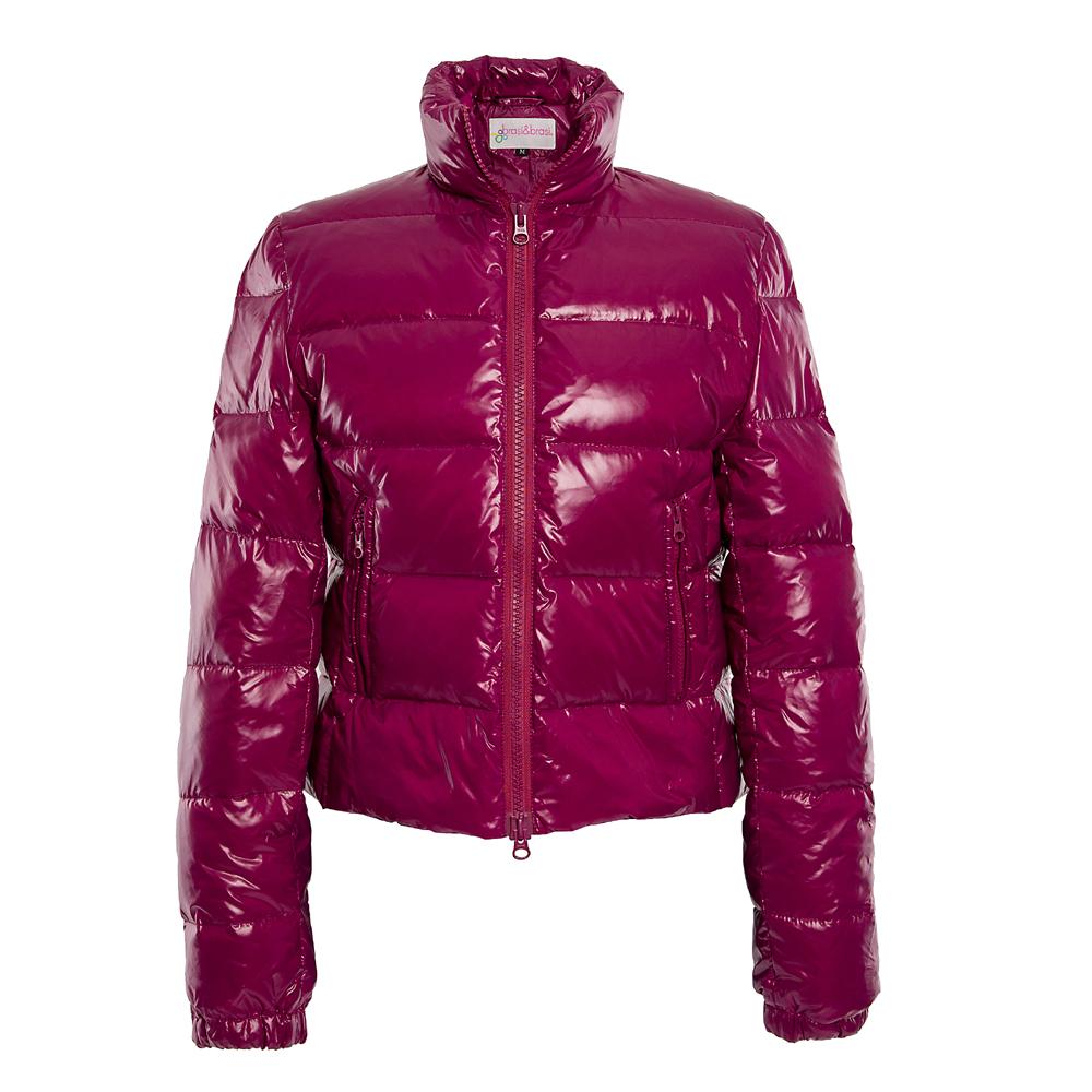 stand&collar jacket beere