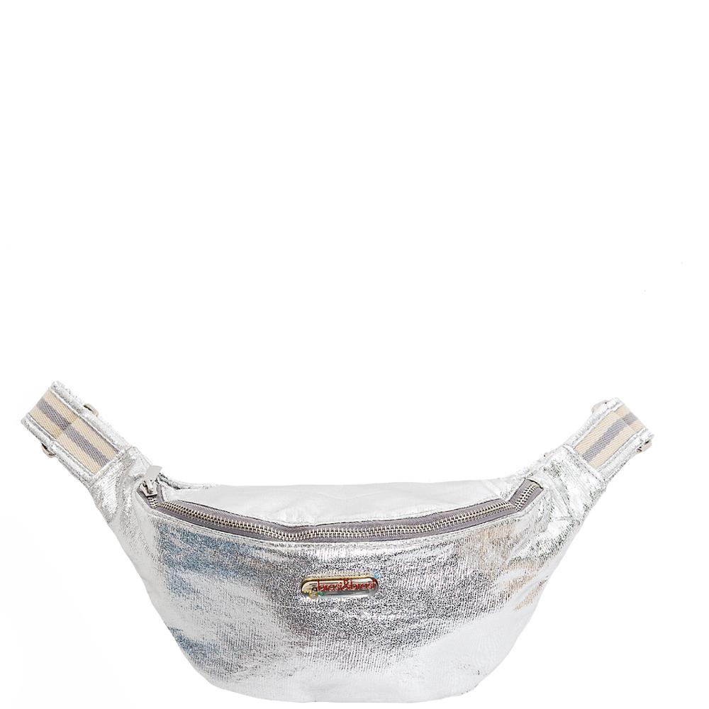 belt&bag glitter stripe silber