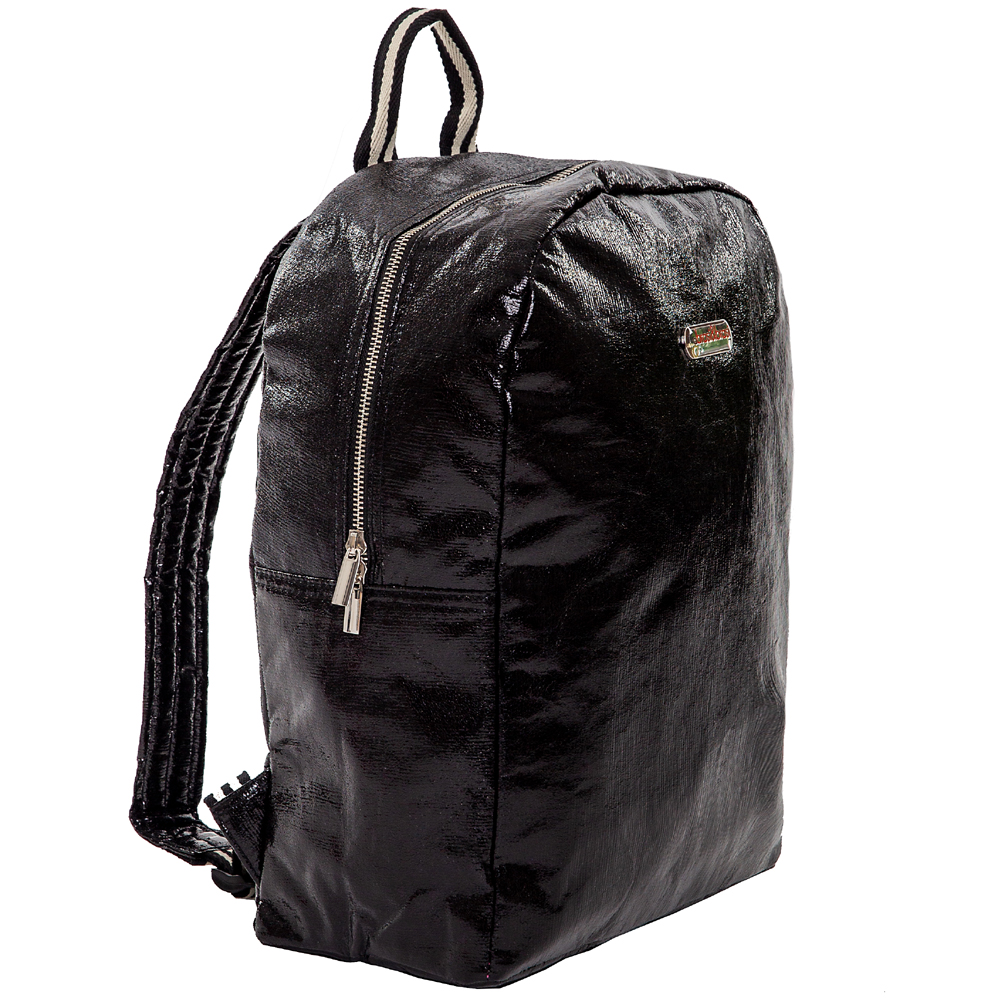 back&pack glitter stripe schwarz
