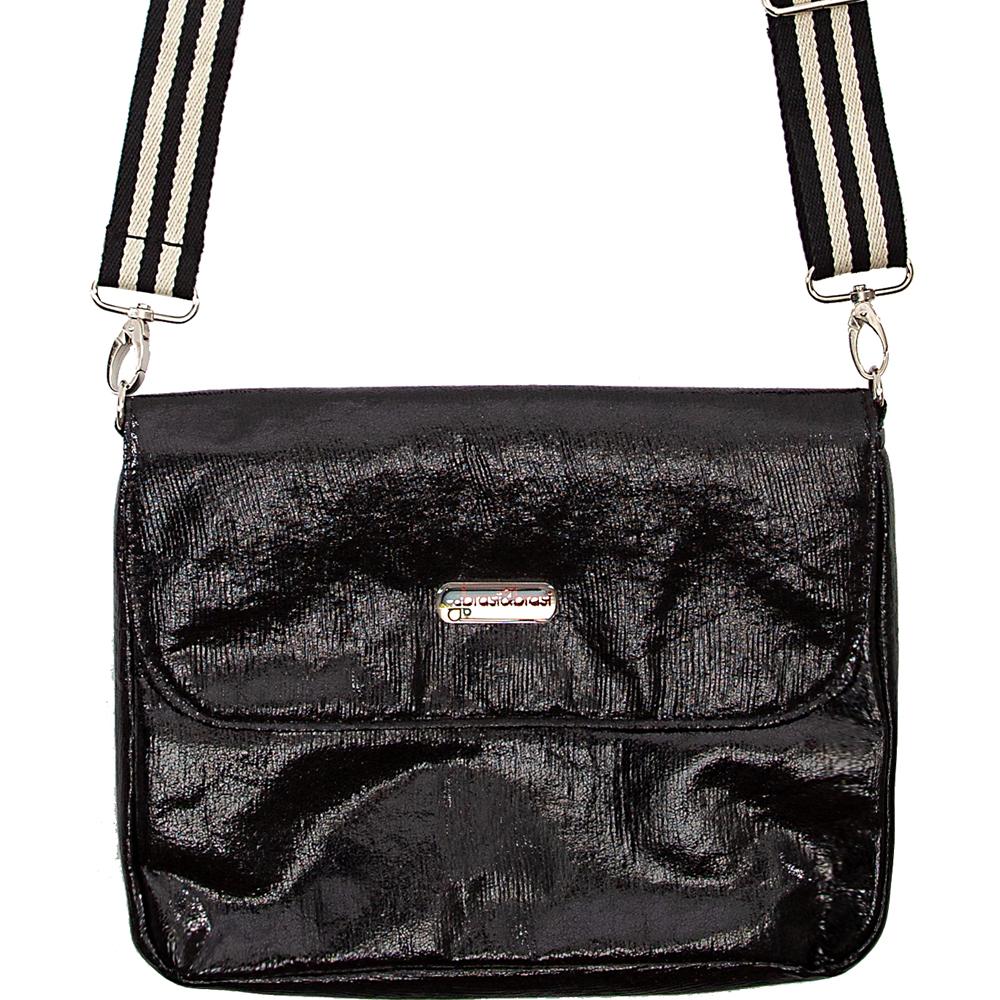 flap&bag stripe glitter M schwarz
