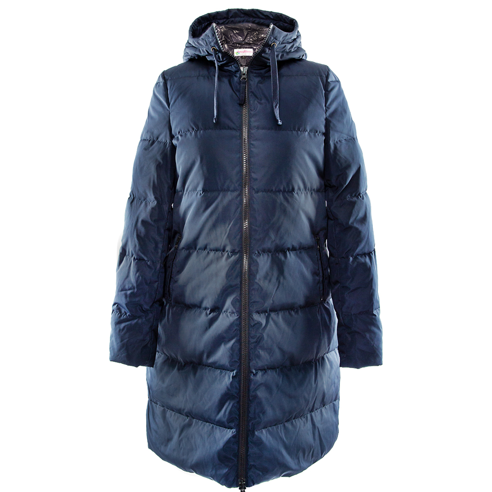 long&coat frosty dark blu