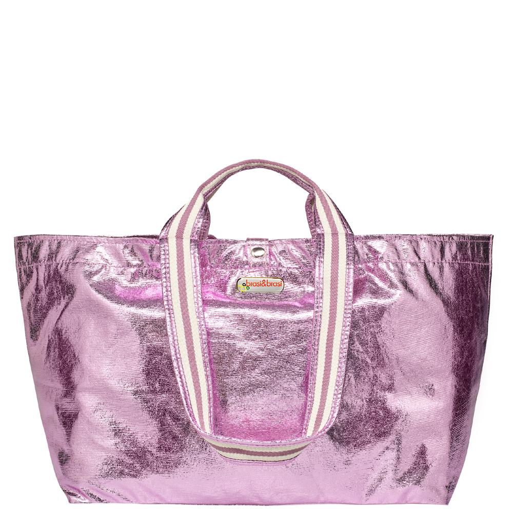 half&glitter stripe rosa