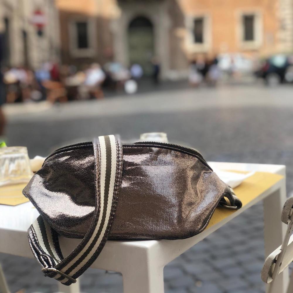 belt&bag glitter stripe olive