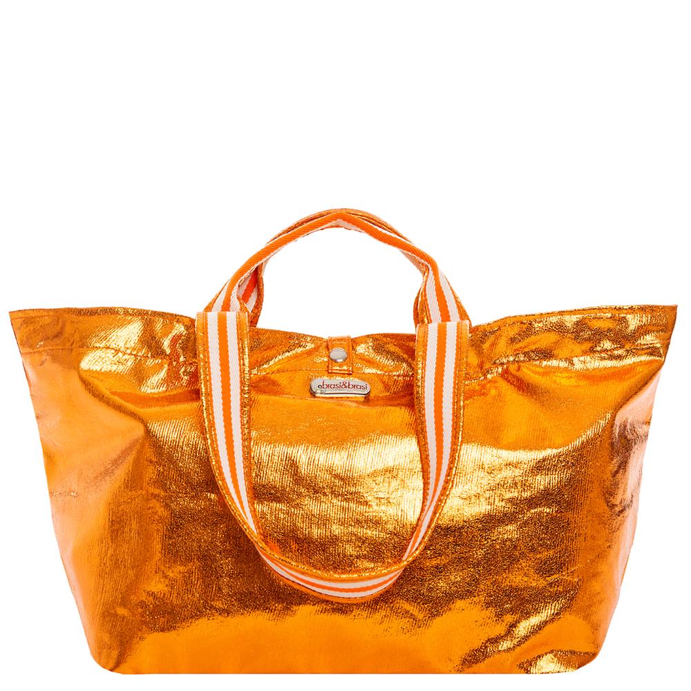 half&glitter stripe orange