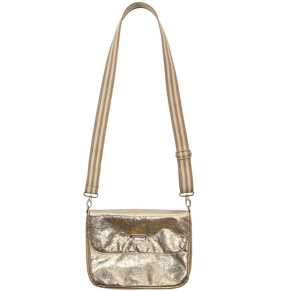 flap&bag stripe glitter gold  S