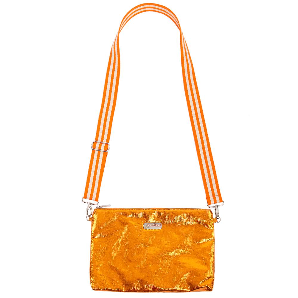 kultur&beutel glitter orange mit Umhängeriemen
