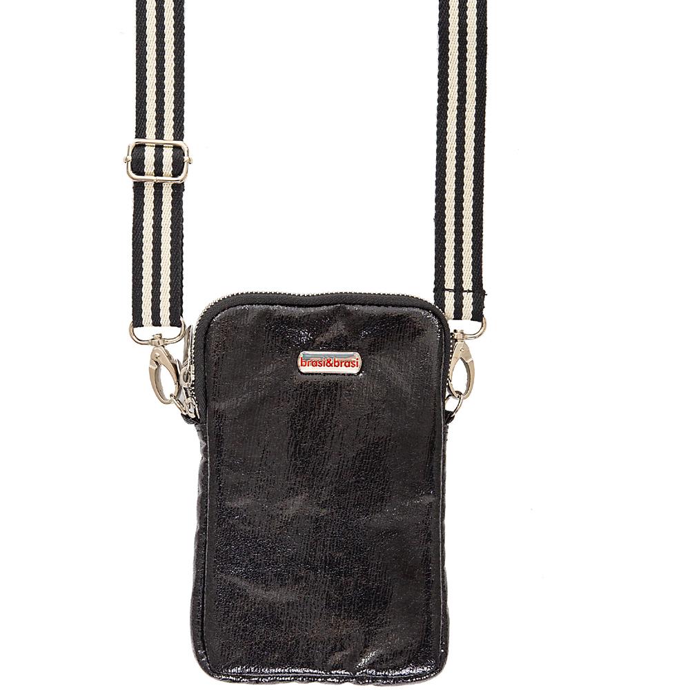 handy&zip stripe glitter  mit Reissverschluss schwarz