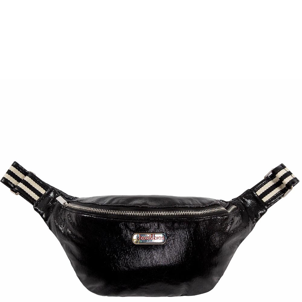 belt&bag glitter stripe schwarz