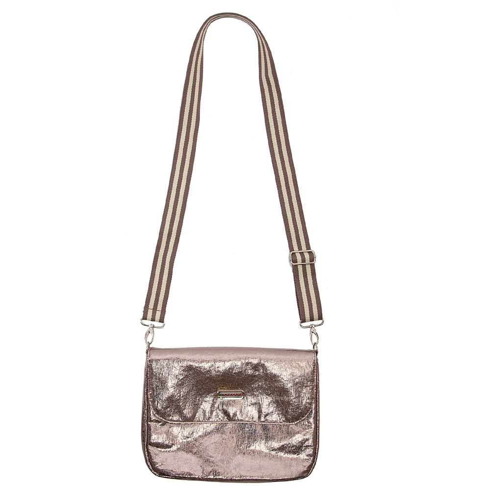 flap&bag stripe glitter anthra S