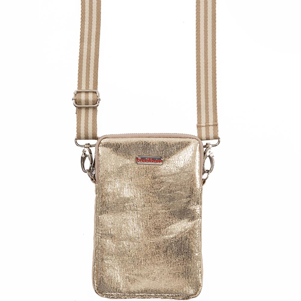 handy&zip stripe glitter  mit Reissverschluss gold