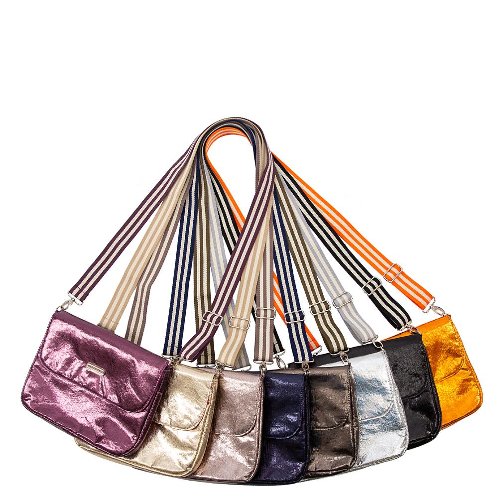 flap&bag stripe glitter blau S