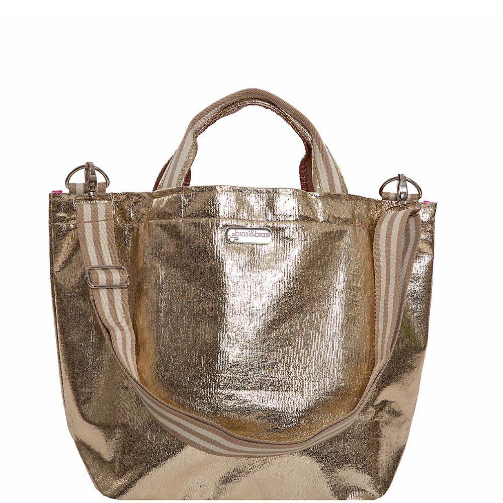 shop&glitter stripe gold MIT REISSVERSCHLUß